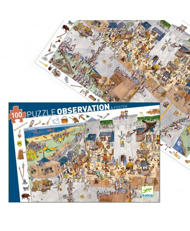Puzzle Djeco Observation Château médiéval 100 pcs