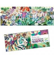 Puzzle 1000 pièces enfants Djeco Rainbow tigre