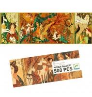 Puzzle 500 pièces enfants Djeco Dame à la licorne