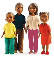 Famille de 4 poupées articulées Milo Lila pour maison de poupées