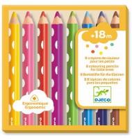 Crayons de couleurs Djeco 8 crayons pour petits 18 mois