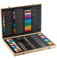 Coffret dessin Djeco Grande boite de coloriage 88 pièces
