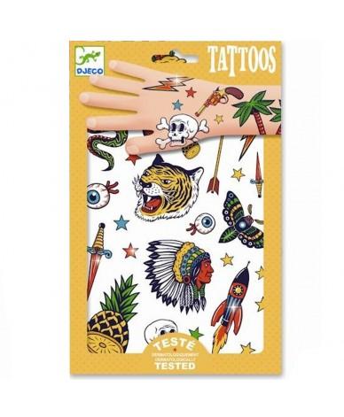Tatouage enfants 50 Tattoos prédécoupés Bang Bang Djeco
