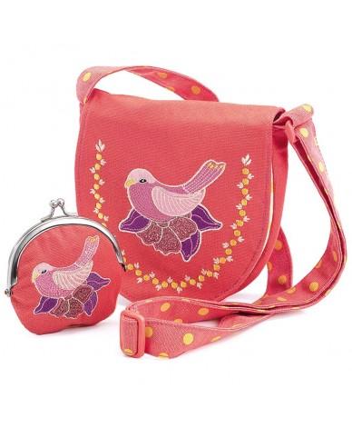 Sac à main et porte monnaie enfant Oiseau Djeco