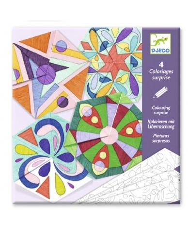 Mandalas coloriage surprise Djeco Enfant 6 - 9 ans