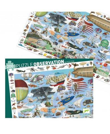 Puzzle Djeco Observation Aéro club 200 pièces 6 ans +