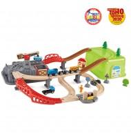 Circuit de train Chemin de fer 50 pièces Jouet en bois Hape
