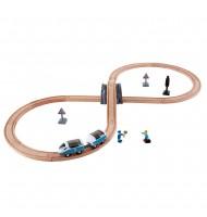 Circuit de train en 8 jouet en bois Hape