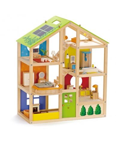 Maison de poupées en bois avec accessoires Hape