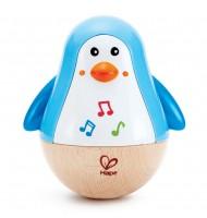 Culbuto pingouin musical Hape pour bébé 6 mois +