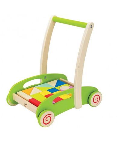 Chariot de marche HAPE jouet en bois bébé avec 20 formes