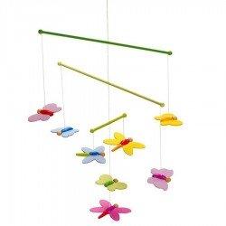 Mobile en bois Papillons pour bébé