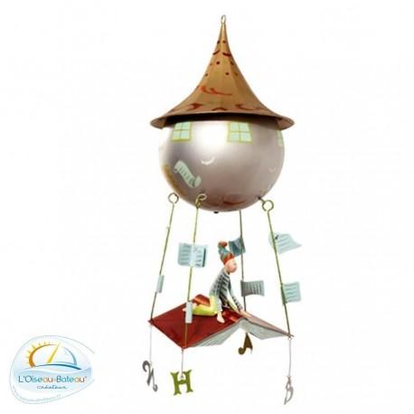 Mobile pour bébé en métal Enfant livre l'Oiseau bateau