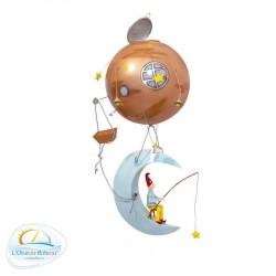 Mobile chambre bébé lune l'Oiseau bateau