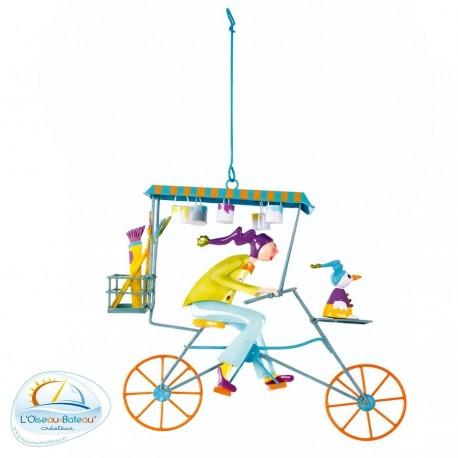 Mobile pour chambre d'enfant peintre vert l'Oiseau bateau