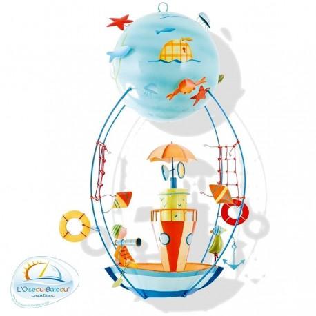 Mobile enfant Bateau phare Schlumpeters Oiseau bateau